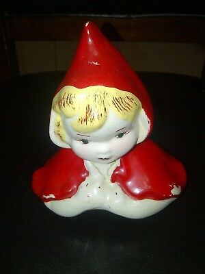 Vintage Cookie Jar TOP ONLY  LITTLE RED RIDING HOOD 1950s RARE Hull McCoy ?