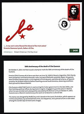 50th Anniversary of the death of Che Guevara F.D.C. Mint Condition. Ireland 2017