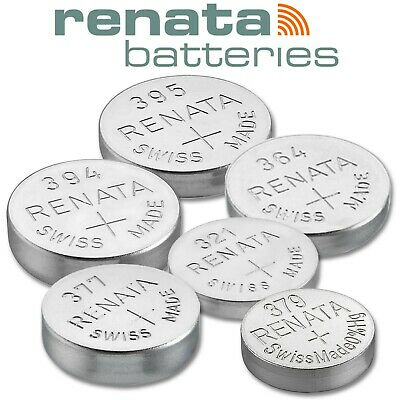 Renata Watch Batteries 377 364 394 395 321 379 Silver Oxide 0%Mercury Swiss 1.5v