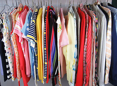 Lot Of 44 Vintage Tops Blouses Shirts Assorted Womans Estate Clothing