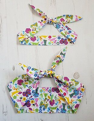 Matching Mum & Baby/Toddler Rockabilly Head Scarf - Scandi Rabbit and Butterfly