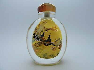 Super Inside Painted Chinese Snuff Bottle Birds