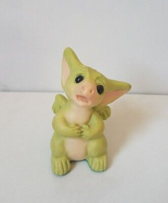 """Real Musgrave/cwsl Flambro Pocket Dragon """"why?"""" 1997 2"""" Figurine Vintage"""