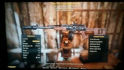 Fallout 76 Xbox One Weapons two shot explosive tse ammo deals etc etc +++