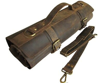 Chef Bag Leather Knife Roll and Knife Case - Bedouin XB - from One Leaf