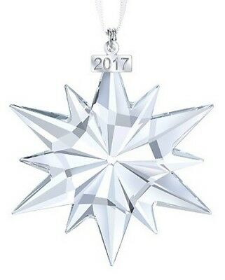 Swarovski Crystal Annual Large Snowflake Ornament 2017 New