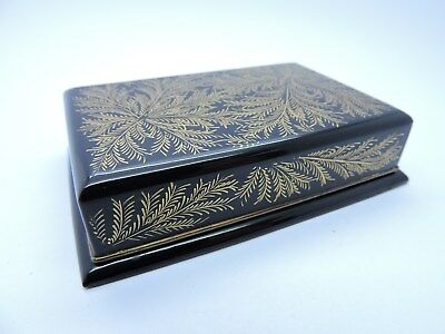 Super Antique Japanese Laquer Box And Cover