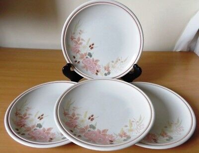 4 x BOOTS HEDGE ROSE 22cm SALAD PLATES V.G.COND