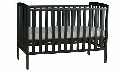 Solid Pine Cot Bed (black), new in box. No reserve.