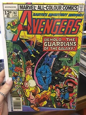 The Avengers #167 Gaurdians Of The Galaxy Crossover