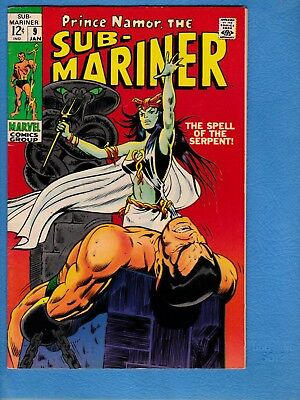 Sub-Mariner #9, 1968, VF- 7.5, first appearance Serpent Crown