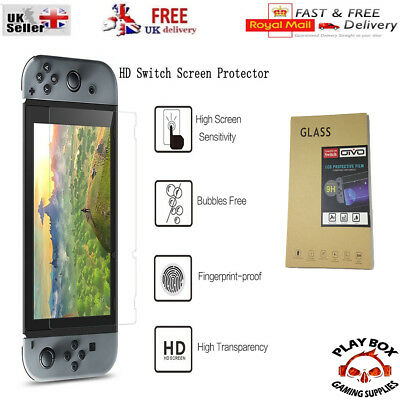 Genuine 100% TEMPERED GLASS Screen Protector Cover for Nintendo Switch console