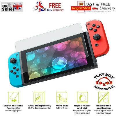 Genuine TEMPERED GLASS Screen Protector Pro Cover for Nintendo Switch console