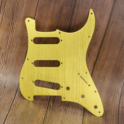 Aluminum FD Strat SSS Style Guitar Pickguard Scratch Plate Anodized Gold Color