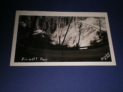 Old RPPC View Blewett Pass Washington Wa Hilscher Photo Postcard