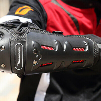 4x Black Elbow Knee Pads Armour Guard Protector Motocross Motorcycle Bicycle