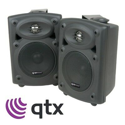 2x QTX Sound QR5B Professional 2-Way DJ Active Studio Stereo Speakers Black