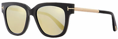 eef53fd6c5d4 TOM FORD SQUARE Sunglasses TF436 Tracy 01C Black Gold 53mm FT0436 ...