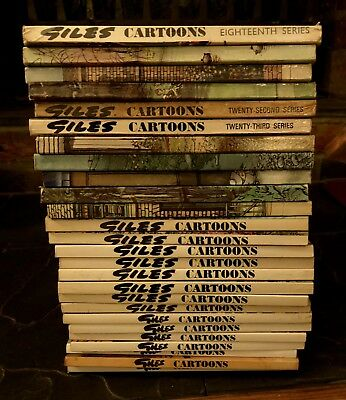 26 x Giles Cartoon Annuals / Books; Series 18 - 43 continuous : Good Condition