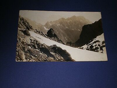Old RPPC View Olympic Mountains Wa Photo Postcard Potlach DPO