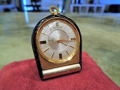 Vintage Le Coultre Memovox Travel Alarm Clock 910 Cal. 17 Jewel Swiss Jaeger