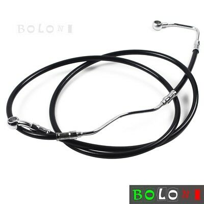"""Black +8"""" Stainless Upper ABS Front Brake Cables For Harley Road Glide 2009-2013"""