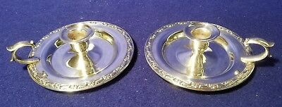 Wm A. Rogers by Oneida Silversmiths, Silverplate Candlestick Holders.