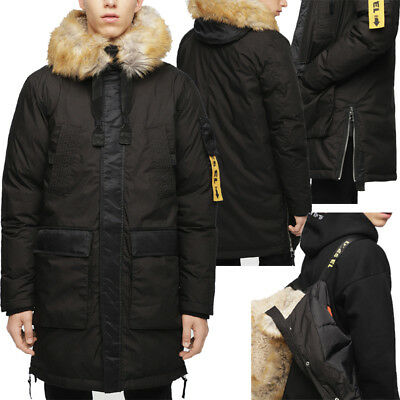 Mens Padded Puffer Quilted Winter Warm Jacket Designer Top Coat Diesel Bomber ds