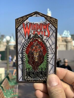 Disneyland Windows of Evil Pin - Scar LE - 2000 Lion King In Hand New! Sold Out!