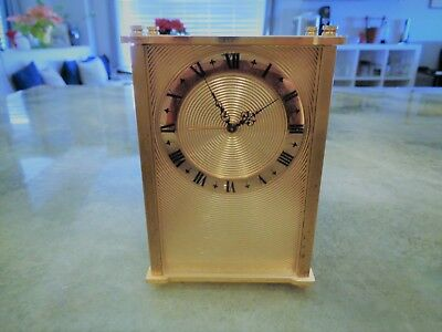 Vintage Ultra Rare Jaeger Thorens 8 Day Musical Alarm Clock Swiss Le Coultre