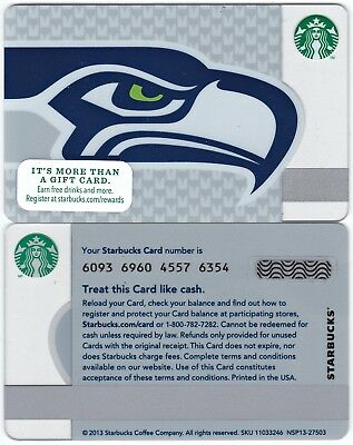 2013 Original Starbucks NFL Seattle Seahawks Gift Card Limited Edition New Rare