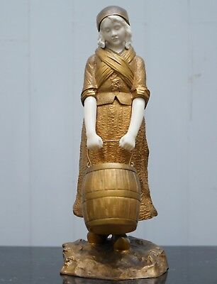 Stunning Collectable 19Th Century French Gilt Bronze Dominique Alonzo Statue