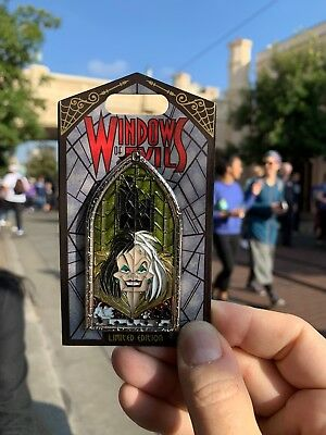 Disney Windows of Evil Cruella Pin January 10th LE 2000