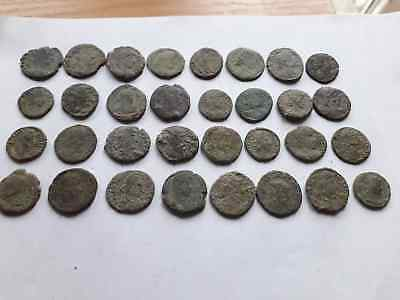 Lot Of 32 Ancient Roman Coins For Cleaned
