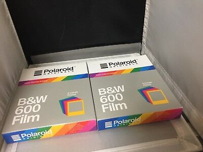 2 Packs Polaroid Originals B&W Film for 600 - Hard Color Frames