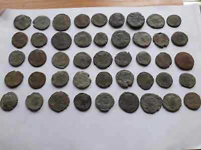 Lot Of 45 Ancient Roman Coins For Cleaned