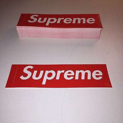 Supreme Box Logo Sticker, 100% Genuine/Authentic, Red, 100+ stickers available.
