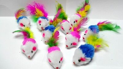 Fur Mice Cat Toys, Soft and Durable for Play , Catnip Mice for kittens. 10