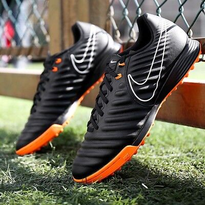 pick up d90b4 03be7 NEW NIKE TIEMPOX Legend VII Academy TF Turf Soccer Shoes Black-Orange  AH7243-080