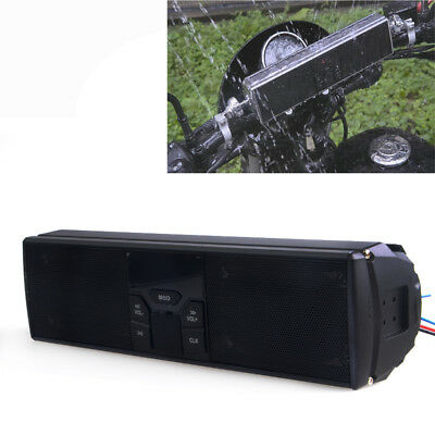 Motorcycle Bluetooth Audio FM Radio Sound System MP3 Stereo Speakers #1
