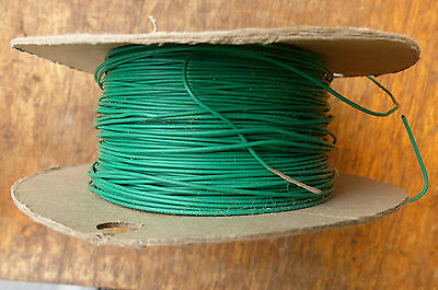 Silver Plated Copper PTFE Wire Cable 20AWG 1MM Green HQ 6 meters