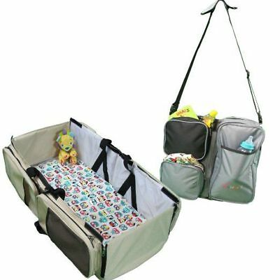 3 in 1 Portable Baby Travel Bed Bassinet Diaper Bag Change Crib Baby Shower Gift