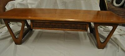 Mid Century Modern Perception Coffee Table by Lane with Basket Weave Drawer