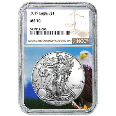 2019 $1 American Silver Eagle NGC MS70 Brown Label Eagle Core