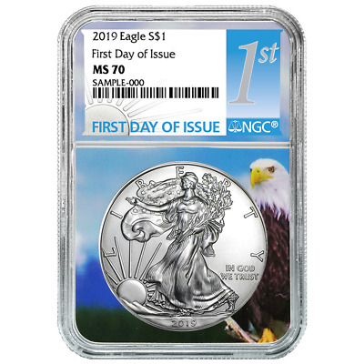 2019 $1 American Silver Eagle NGC MS70 FDI First Label Eagle Core