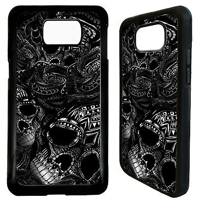 Black rose flower tattoo floral case cover for Samsung Galaxy S6 S7 S8 S9 plus
