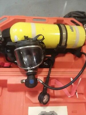 Drager SCBA, Mask, Harness, Air Tank & Case See Pics