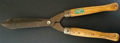 Wiss wood handle hedge clippers trimmers garden pruning shears vintage label 8-C