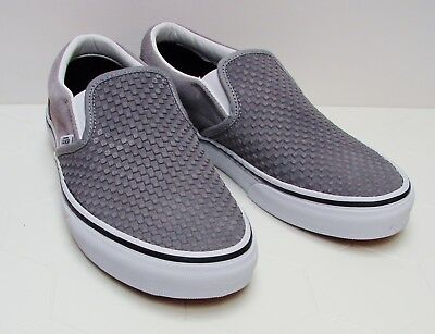 7bfa3be45d1 VANS Classic Slip-On (Embossed Suede) Frost Gray VN-0A38F7U7F Men s size