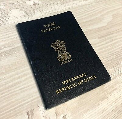 INDIA collectible 2012 passport full of visas (invalid/cancelled) *RARE*
